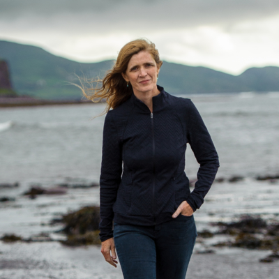 "Samantha Power in Waterville Co.Kerry over looking Ballinskelligs Bay after giving a talk on her recent book ""The Education of an Idealist"". Photo:Stephen Kelleghan"