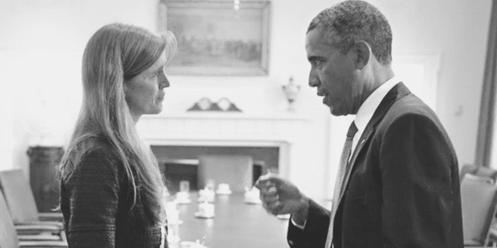 Samantha Power and Barrack Obama